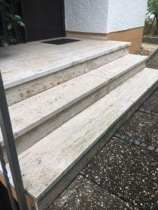 Treppe Eingangsbereich nachhher Die Steinreiniger