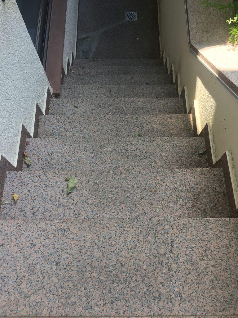 Kellertreppe Vorher - Die Steinreiniger