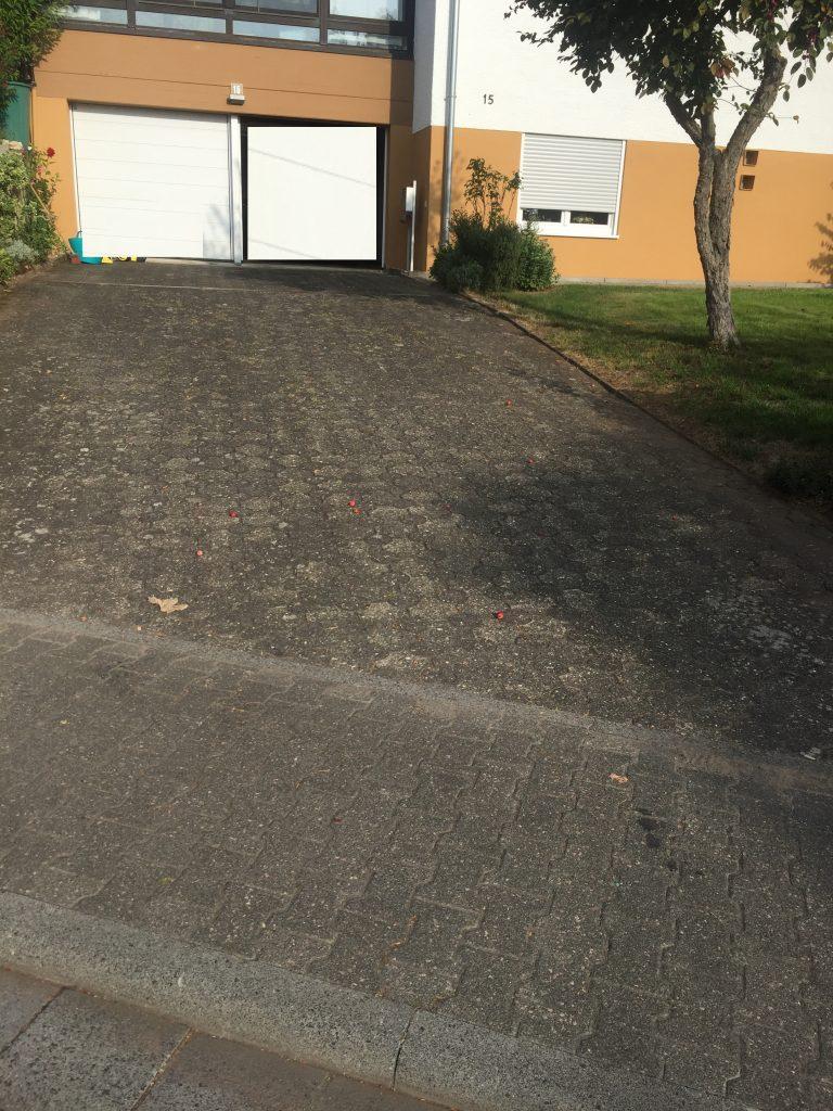 Garageneinfahrt Vorher - Die Steinreiniger