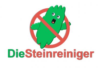 Logo Die Steinreiniger mit Schrift
