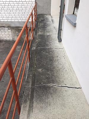 Die Steinreiniger - Balkon vorher