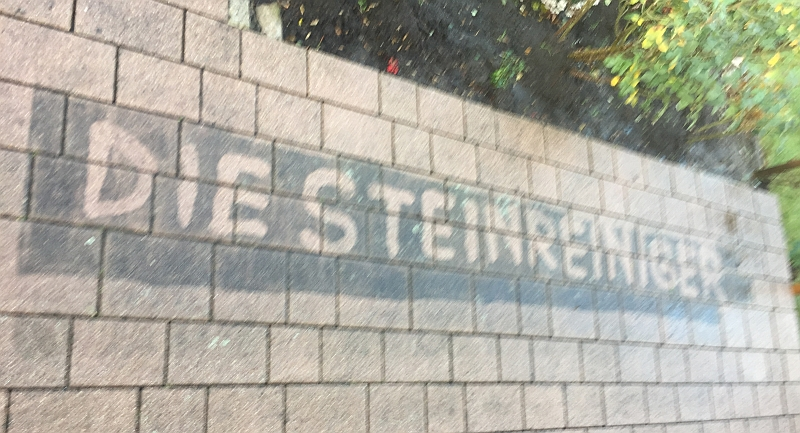 Steinreiniger in Stein